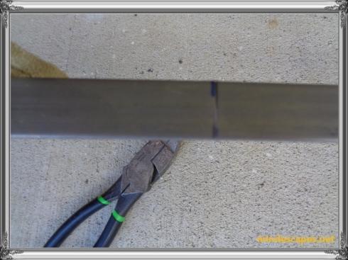 indentation on steel strip at 16