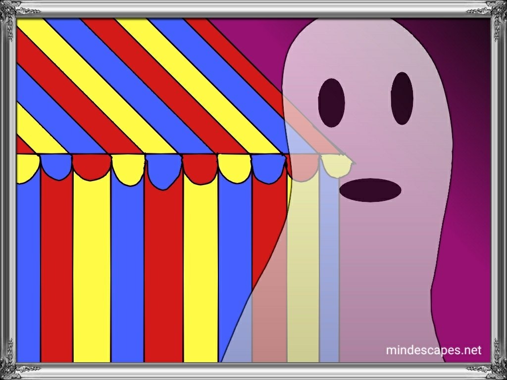 Circus tent and ghost