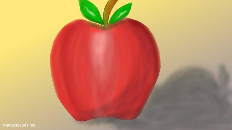 Apple still life, digital art